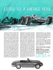 1964 Lotus Elan Elite ad - Lotus 63 A Vintage Year