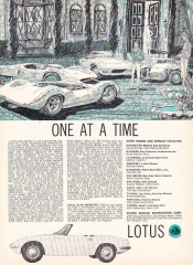 1965 Lotus Elan - One at a Time