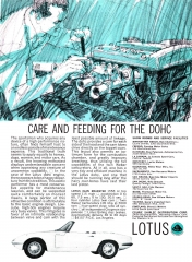 1965 Lotus Elan ad - Care And Feeding for the DOHC