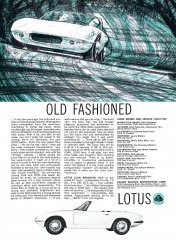 1965 Lotus Elan ad  - Old Fashioned