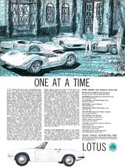 1965 Lotus Elan ad -One at a Time