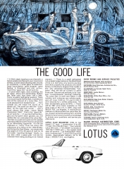 1965 Lotus Elan ad - The Good Life