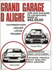 Grand Garage D'Aligre Lotus