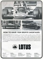 How To Have Fun Despite Shortages Lotus Europa