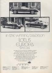 In the winning tradition Lotus Europa Special