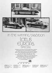 In the winning tradition Lotus Europa SpecialA