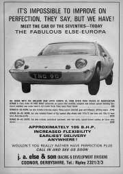 It's impossible to improve on perfection Else Lotus Europa