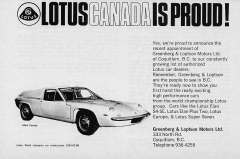 Lotus Canada is Proud ad