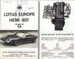 Lotus Europa Hemi 807 ad