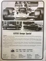 Lotus Europa Special Lotus 72