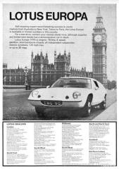 Lotus Europa vintage ad