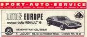 Lotus Europe Renault 16 France