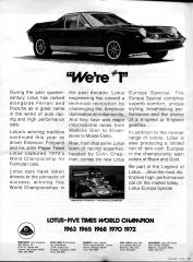Lotus Five Times World Champion ad
