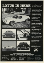 Lotus is Here Europa Twin Cam ad
