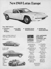 New 1969 Lotus Europe