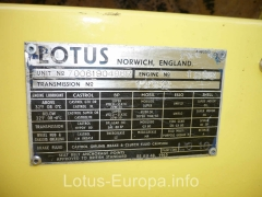 1970 Lotus Europa S2 build plate