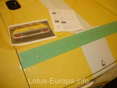 Installing Europa engine cover lettering