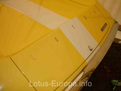 Lotus Europa engine cover letters