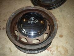 Lotus Europa steel wheel and hubcap