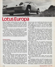 Motoring Which Lotus Europa